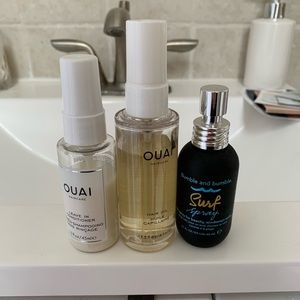 Set of (3) Ouai and Bumble & Bumble Hair Oil